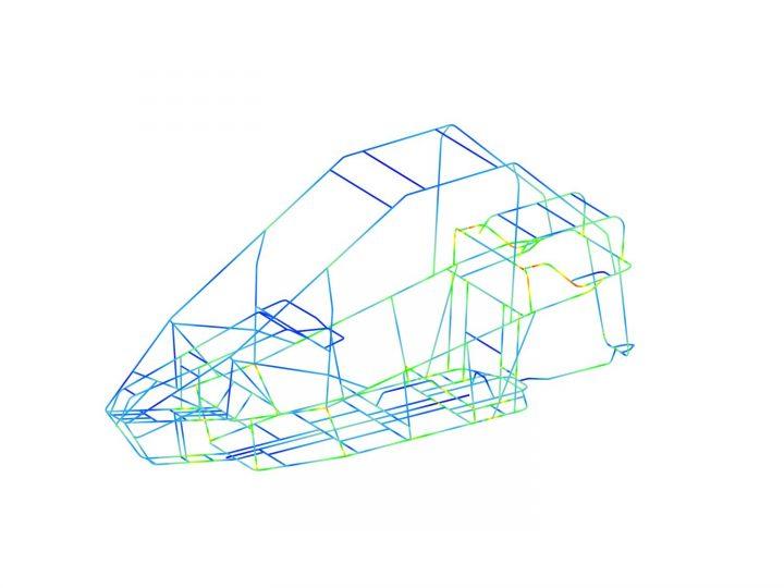 ibb FEM-Berechnung NESS Fahrzeugrahmen